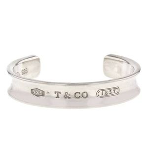TIFFANY & CO. Sterling Silver 1837 Cuff Bracelet!